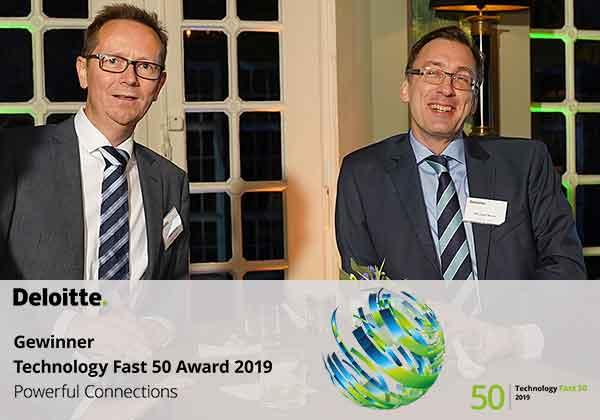 Zufriedene Gesichter bei Roman Kucza (links) und Michael Wack über die Deloitte Auszeichnung