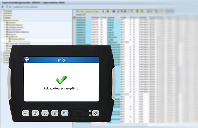 Bild zeigt Monitor: Mit dem 3D Staplerleitsystem identpro® TRACK haben Sie Ihr Lager jederzeit im Griff
