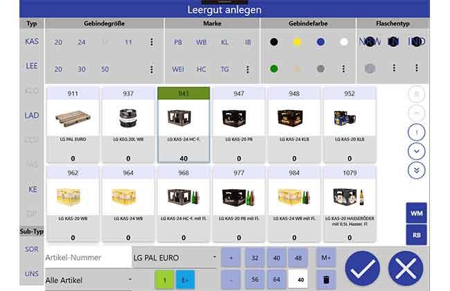 Bild zeigt Dialog für Leergutvereinnahmung bei Warsteiner mit SAP EWM