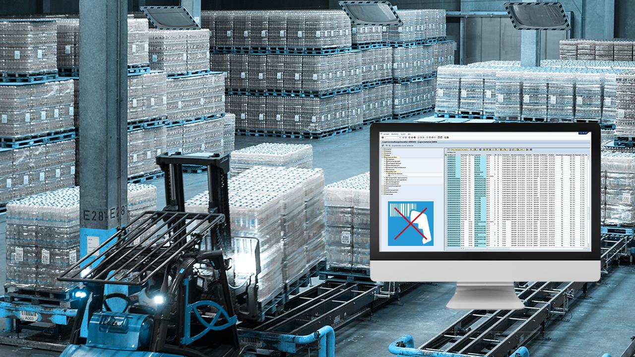 SAP EWM ohne scannen mit Staplerleitsystem von IdentPro