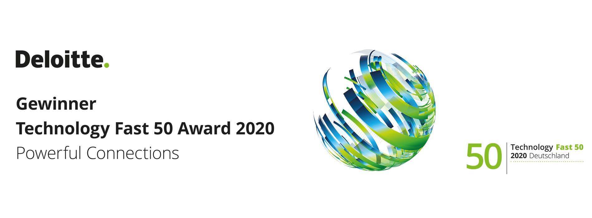 Identpro mit Deloitte Technology Fast 50 Award 2020 ausgezeichnet